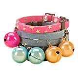 Nikgic 1 * 34 cm Goldene Glocke Stern Muster Niedlichen Hundehalsband Hohe Qualität Denim Fashion Hundehalsband