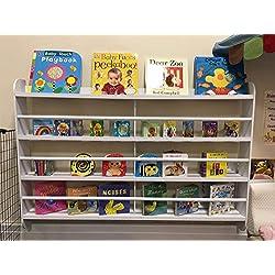 Bibliothèque, en bois, à fixation murale, étagère, rangement, chambre à coucher, pour chambre d'enfants, par Top Home Solutions®