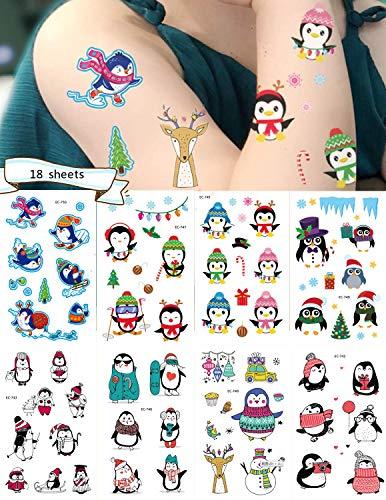 räre Tattoo, Packung mit 18 Blatt, niedlich wasserdicht und sicher für Jungen und Mädchen Urlaub Party Belohnungen ()