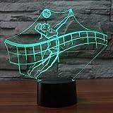 Qliyt 3D Led 7 Farbwechsel Strand Volleyball Modellierung Usb Schreibtischlampe Sport Wohnkultur Nachtlicht Leuchte Geschenke - Touch Schalter