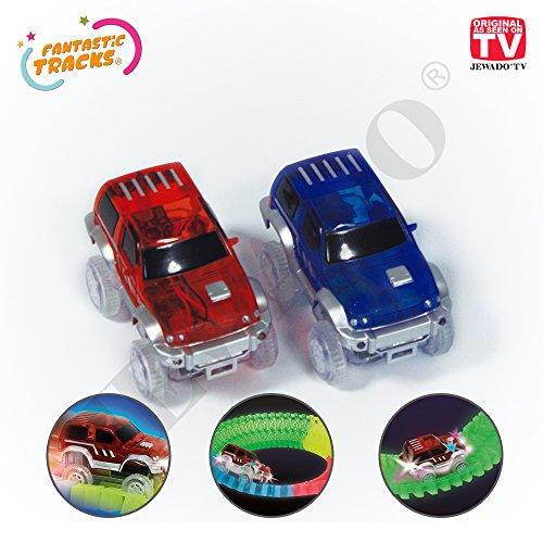 Ersatz Auto für Fantastic Tracks® Autorennbahn oder Rennstrecke, Set 2 Stück - Original aus TV-Werbung -