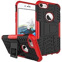 iPhone 7 Plus / iPhone 8 Plus Funda, adorehouse Hybrid TPU y PC Bumper Back Cover [diseño 2 en 1] Anti-Gota Anti-Choques Rígido Carcasas para iPhone 7 Plus / iPhone 8 Plus (Rojo)