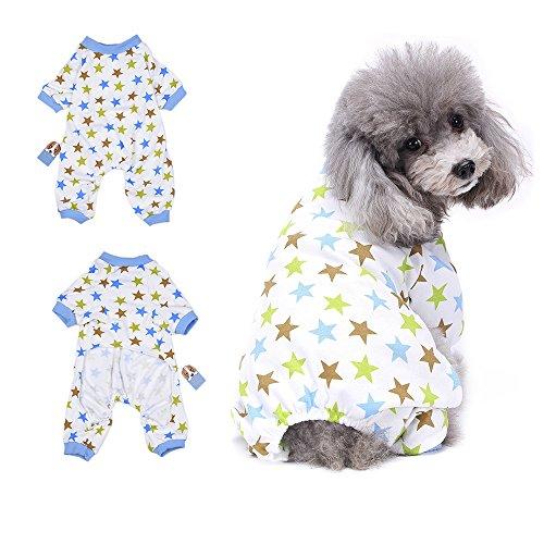 HongYH Hunde-Pyjamas Kleider mit Hunde Welpen pyjamsa, weich, T-Shirt aus 100% Baumwolle, Mantel für kleine Hunde und Katzen