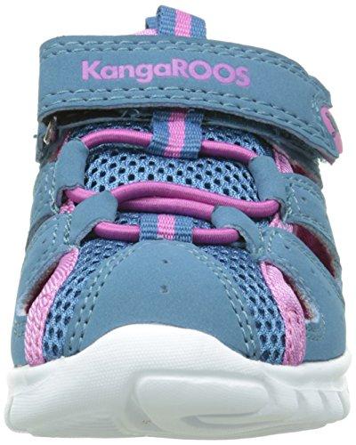 KangaROOS Rock Lite, Chaussures Marche Mixte Bébé Vert (Dk Smaragd/Dk Salmon 863)