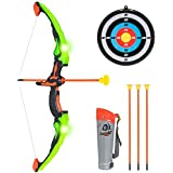 Best Choice Products Kids Light Up Archery Bow & Arrow Playset W/ Suction Darts