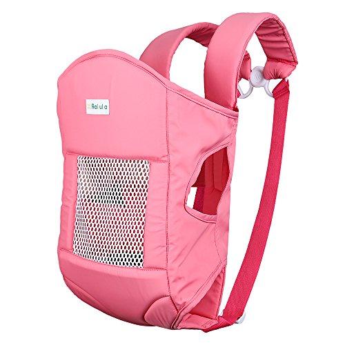 Baby Carrier Rakuka Embrace-02 Marsupio Porta bebè con ampio tessuto cuscino del sedile traspirante usura di bambini per 6,5 kg a 15 kg (Taglia 2, Rosa)