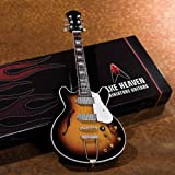 Axe Heaven Electric Sunburst Hollow Body Miniature Guitar Replica John Lennon