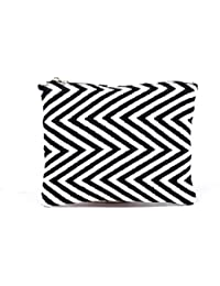Diwaah Cotton Non Leather Zebra Color Coin Pouch For Women - Black
