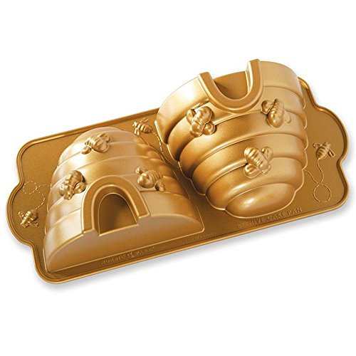 Nordic Ware 54577Beehive Kuchen Pfanne, Aluminium, Gold Nordic Ware Mini Bundt Pan