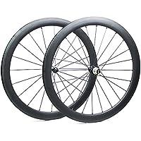 Yuanan Ruedas de Fibra de Carbono para Bicicleta de Carretera, 50 mm, con Clincher