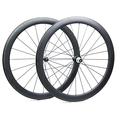 Yuanan 700C Road Bike Carbon Laufradsatz 47mm Tiefe 27mm breitere Aero Felge mit dt Swiss 350Hub Sapim CX Ray Speichen für Fahrrad Rad Tubeless -