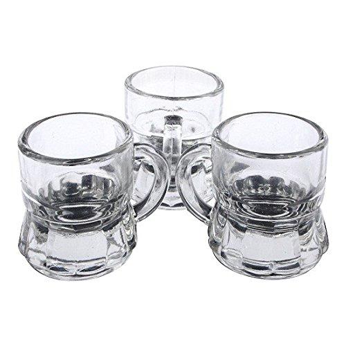 S/O - Juego de vasos de chupito (24 unidades, 3 cl, de cristal)