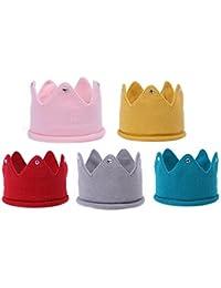 5 Piezas Bebé Niña Diadema de la Corona / Sombrero de Lana Caliente de Invierno / Venda del Pelo / Headwrap / Accesorios de Decoración Para la Fiesta de Cumpleaños y Foto de Familia