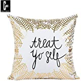 Casemantra™ Nice Print Of Treat Yourself On Pillow Cover Size 16 X 16