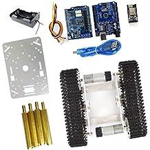 Sharplace Diy Chasis Tanque Robot DIY Aleación Aluminio para Arduino Equipo de Instalación Electrónica - plata