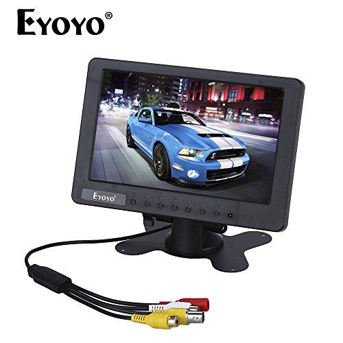 7 pulgadas Monitor HD 1024 x 600 16:9 TFT CCTV LCD FHD Color Portátil Pantalla de Video Monitor con Entradas BNC AV DC AC Construido en Altavoz