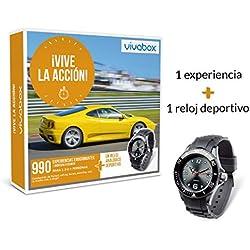 VIVABOX Caja Regalo -¡Vive LA ACCIÓN!- 900 Actividades. Incluye: un Reloj analógico Negro