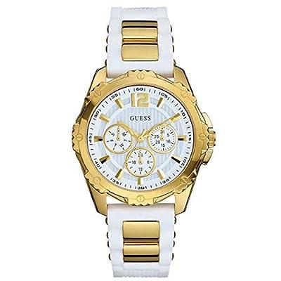 Guess W0325L2 - Reloj de lujo para mujer, color blanco / dorado