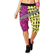 Zumba Fitness Let It Move You Harem - Pantalones bajos, para mujer, mujer, color Mell-Oh Yellow, tamaño medium