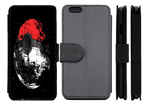 huge selection of 6536d 63d91 Pokemon Star Wars Death Star Leather Flip Phone Case Wallet Cover ...