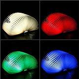 Mixed-Gadgets Mini USB aufladbare LED-Nachttischlampe Kreative Folding Buch Beleuchtung für Frauen Studenten Mädchen-Kind-Kind-Geschenke (weiß)