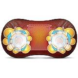 Nacken- und Rückenmassagegerät Shiatsu Massage-Kissen mit Infrarotheizung Tiefengewebsmassage Knet-Massagegerät für Schulter, Taille, Entspannung, Muskelschmerzen lindern-Einsatz in Heim Auto und Büro