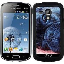 Funda para Samsung Galaxy S Duos S7562 - Perro Mamífero Mops Negro De Origen Animal by Grab My Art