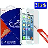 2x iPhone SE / 5S / 5 / 5C Ultra-Klar plt24 Glasfolie Panzerglas Schutzfolie Displayschutzglas ...