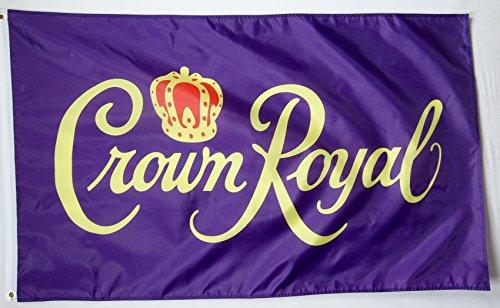 5' Outdoor Indoor Banner (Krone Royal Getränk Flagge 3'x 5' Deluxe Indoor Outdoor Banner)