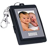 """1.5"""" Black Key Ring & Pendent Photo Viewer with Built-in Memory for 107 Pictures - Plug & Play with No Need to Install Driver"""