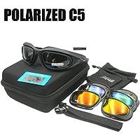 Daisy C5 4LS Gafas de sol tácticas para hombre, resistente a impactos de airsoft, ahumadas, para ciclismo o motociclismo, POLARIZED MODEL