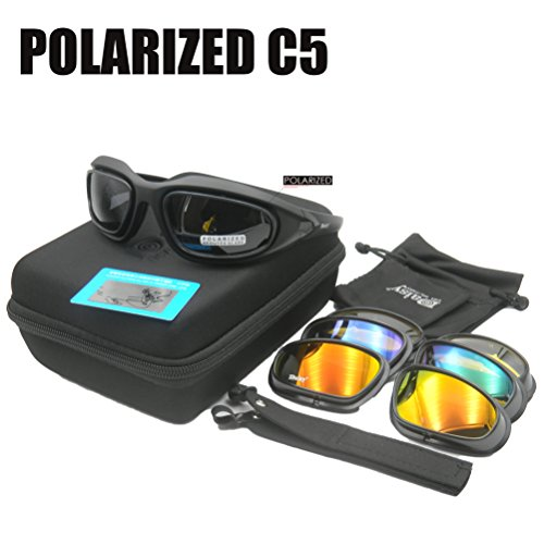 Margherita C5 occhiali da sole polarizzati occhiali 4LS Men militare bullet-proof Airsoft shooting gafas Smoke Lens moto ciclismo occhiali, POLARIZED MODEL