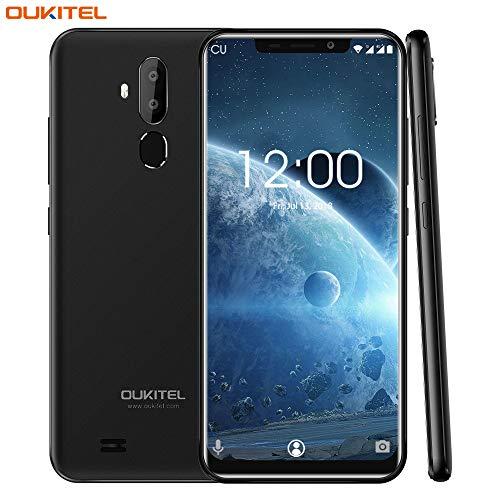 Oukitel C12 Pro Android 8.1 Dual SIM Smartphone ohne Vertrag, 6.18 Zoll (19:9 Display),2GB RAM 16GB ROM, Quad-Core Prozessor,33OOmAh,13MP+2.0MP Hauptkamera + 5MP Frontkamera-Schwarz