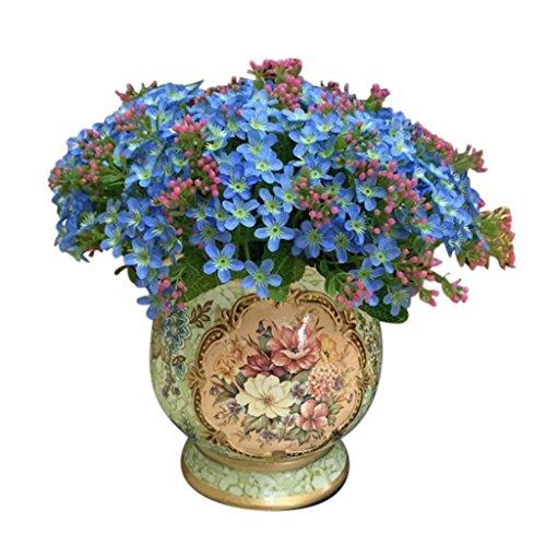 Amlaiworld 72 finta de la cabeza artificial de la flor de Rose (Cielo azul)