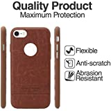 KUKRIE Premium Plain leatherite Back Cover Case for iPhone 7 - Brown