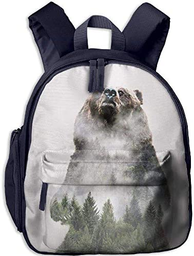 Bear Bear Bear And Pine Forest Funny Kids Bags Boys And Girls School Backpack   Special Compro    adottare    Fine Anno Vendita Speciale  5a6347