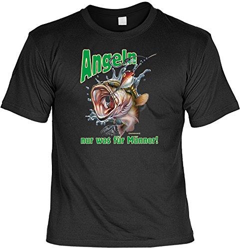 Witziges Sprüche Fun T-Shirt : Angeln - nur was für Männer!