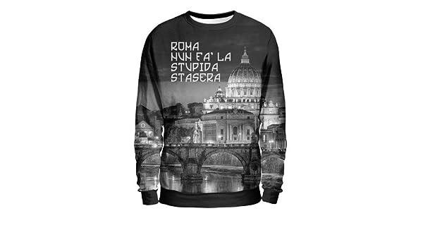 RSC Roma Summae Civitas - Felpa Uomo - Roma Nun Fa La Stupida Stasera   Amazon.it  Abbigliamento 698541513a1