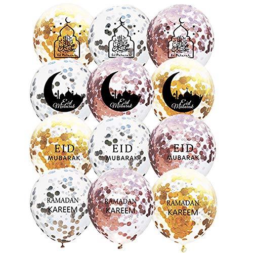 foviupet Mond Kuchen Muslim Neues Jahr Festival Dekoration Eid Mubarak Ballons Party Event Dekor Aufblasbare Spielzeug Ramadan
