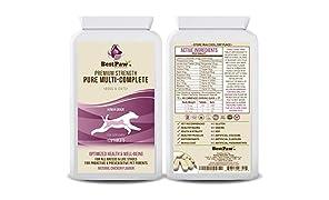 Best Paw Nutrition - Multi vitamine per Cani e Gatti - Queste Vitamine E Integratori per Cani Assicurano Che Il Tuo Cane Rimanga Sano E Attivo - 120 compresse