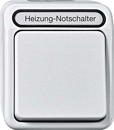 Merten MEG3448-8029 Heizungs-Notschalter, Aus/Wechsel, 1-polig mit Ko.Licht, lichtgrau, AQUASTAR