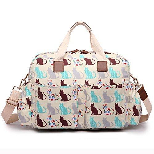 Miss Lulu Multifuntional Baby Windel Windel Wickeltasche Tote Taschen Große Kapazität Wasserdicht Mama Schwangerschafts Handtaschen beige