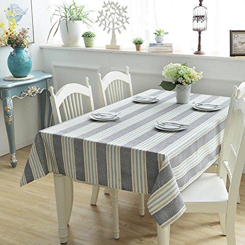 HUANZI 100% Baumwolle Tischdecke Streifen Geometrische Farbe Couchtisch Tischdecke Rechteck Staubdicht Tischdecke, 3, 140 * 180 -
