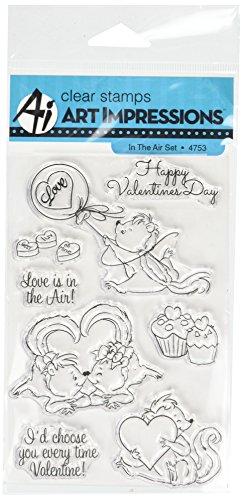 Art Impressions Valentine 's Selbst Gummi-Stempel-Set Bluetooth X 4-inch-in die Luft (Luft 4in)