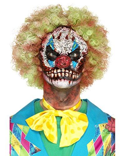 Böse Clown Maske für Halloween aus Schaumlatex