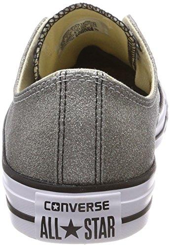 Converse Unisex-Erwachsene CTAS Ox Sneaker Silber (Ash Grey/Black/White)