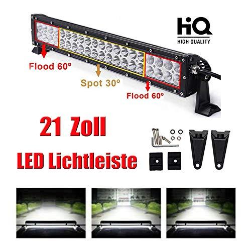 LED Light Bar wasserdicht Flut-Punkt-Combo Strahl weg Straßen-Licht-Nebel-Licht Fernlicht 21-Zoll-Light Bar 6000K Super helles weißes Licht für SUV LKW-Boot -