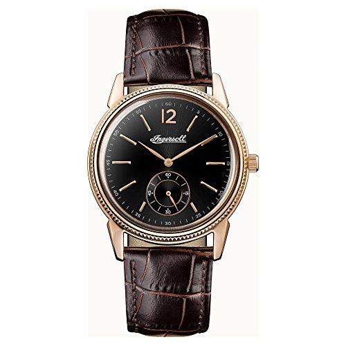 Ingersoll Herren Datum klassisch Quarz Uhr mit Leder Armband I04501