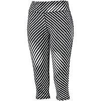 Puma 51375903 - Pantalones Leggings 3/4 Mallas para Mujer, Color Negro (Blanco y Negro), Talla Extra-Small