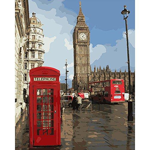 Sunshay Literary Cello London Impression Angel Peinture Par Numeros 40*50 CM